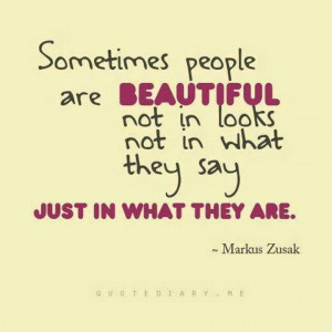 quote on being beautiful the way you are