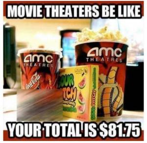 Movie theaters...