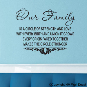 FAMILY QUOTE INSPIRATION DIY Removabel Wall Decal