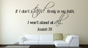 Isaiah 7:9 If I Don't..Bible Verse Wall Decal Quotes