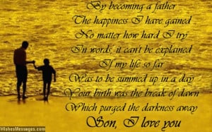 Love You Poems for Son | WishesMessages.com