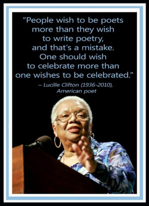 ... Lucille Clifton (1936-1910) The Poetry Cabin (ThePoetryCabin) on