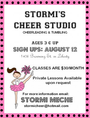 Cheerleading Flyer Quotes http://stylishlystormi.blogspot.com/2011_06 ...