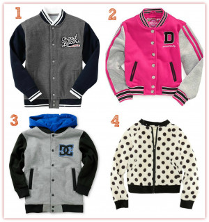 Letterman Jacket For Girls Sporty But Not Chunky This