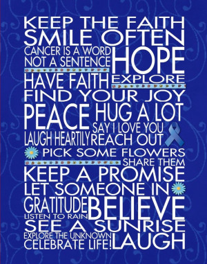 ... of you Roni ~ You left us all too soon ~- blue for Colon Cancer~ Dawn