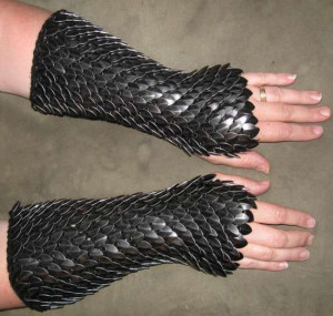 fashion fantasy medieval armor dragon scale dragons gloves ...