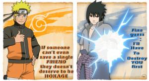 Sasuke Quotes To Naruto Naruto and sasuke with quotes