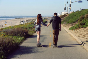 skate Couple Girl Summer boy