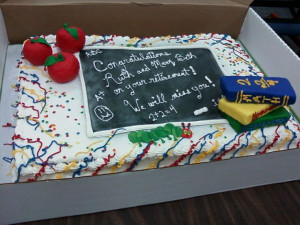 Teacher Retirement Cakes