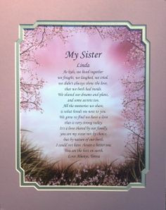 Hummingbird Personalized Poem for Sister Keepsake Gift