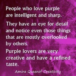 the color purple-my favorite color!