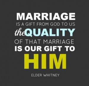 Marriage restore unto us the joy of our union