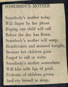 Somebody's Mother More