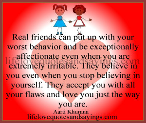 Real Friends Can Put Up With Your Worst Behavior And Be Exceptionally ...