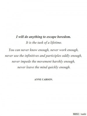Anne Carson Quote
