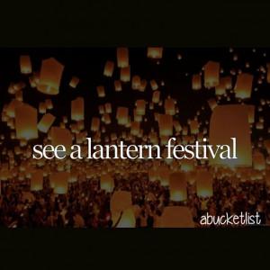 see a lantern festival