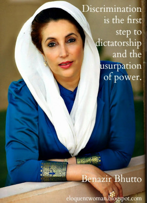 Famous Speech Friday: Benazir Bhutto at the UN Conference on Women