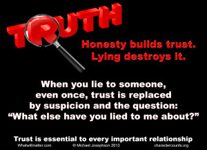 WORTH SEEING: Poster: Honesty builds trust. Lying destroys it. When ...