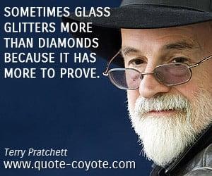 Quotes Glass Glitter More Diamonds