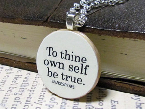 Shakespeare Inspirational Quote Necklace
