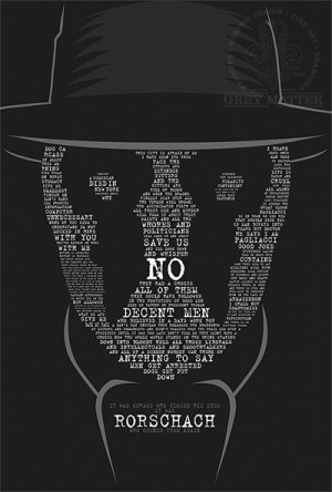 Rorschach Watchmen Quote Print by MarkItZeroNET