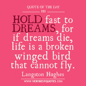 ... life is a broken winged bird that cannot fly.- Langston Hughes quotes
