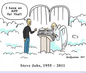 Steve Jobs has an App for God - Steve Jobs Jokes