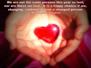 QUOTE & POSTER: We are not the same persons this year as last; nor are ...