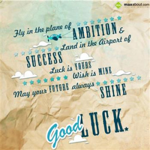 Good Luck SMS / Text messages, wishes, quotes in Hindi