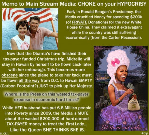 Nancy Reagan vs The Mooch. Hawaii vacation on the Tax-Payer's back ...