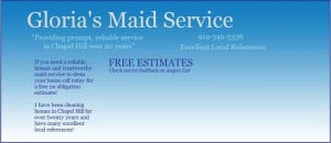 ... Service 919-542-5336 House Cleaning Estimate Quote Chapel Hill NC