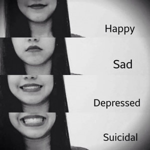 ... girl, happy, hate, message, myself, quotes, sad, smile, suicidal, text