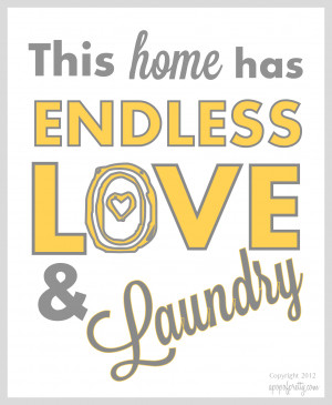 Love & Laundry Printable – Gray (Grey) and Sky Blue