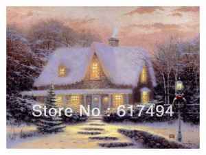 ... rosebud cottage art 26 thomas kinkade original ... HD Wallpaper