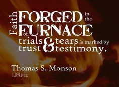 ... marked by trust and testimony.