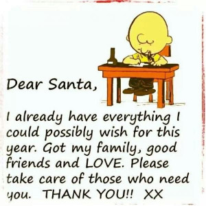 Charlie brown quotes, funny, cartoon, sayings, dear santa