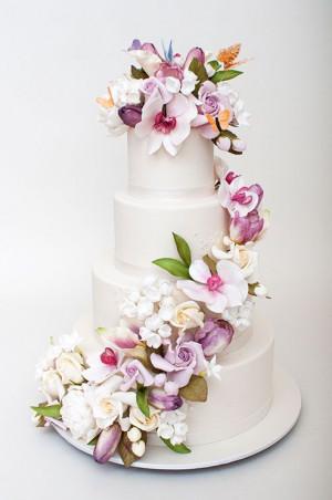 ... Ben Israel Cake, Cascading Flower Wedding Cake, Wedding Cakes, Ron Ben