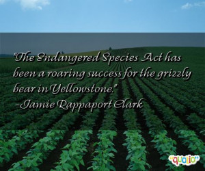 The Endangered Species Act has been a
