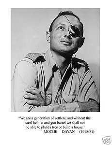 MOSHE DAYAN (ISRAELI GENERAL & WAR HERO) QUOTE PHOTO | eBay