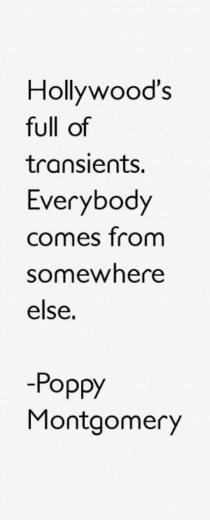 Poppy Montgomery Quotes amp Sayings