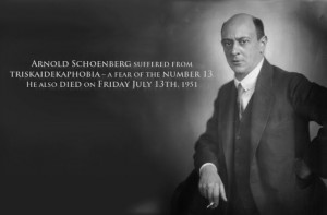 Bizarre composer fact for today: Arnold Schoenberg suffered from ...