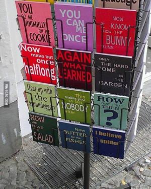Literally translated German sayings into English - can anyone make ...