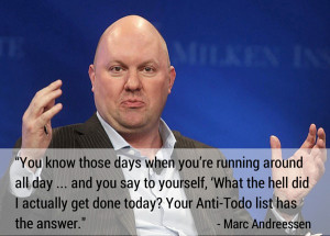 Marc Andreessen (Andreessen Horowitz) quote on daily reflection