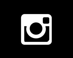 INSTAGRAM LOGO BLACK AND WHITE