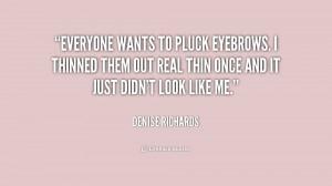 denise richards eyebrows