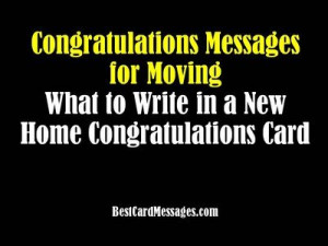 New House Card Messages: Congratulations on Your New Home - Best Card ...