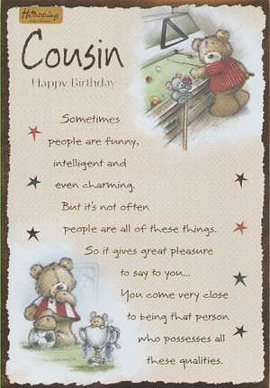... , Male Relation Birthday Cards, Male Cousin, Cousin Happy Birthday
