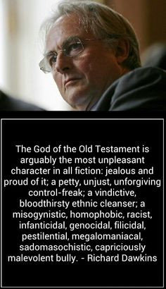 Richard Dawkins on God - I totally agree with this comment!!! More