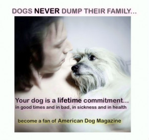Dogs Never Dump Their Family