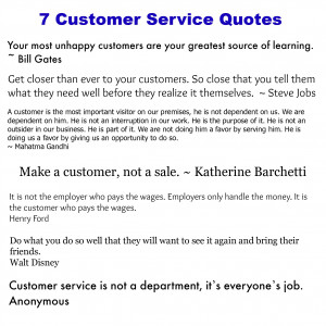 Customer Service Quotes collected by intelligentdomestications.com
